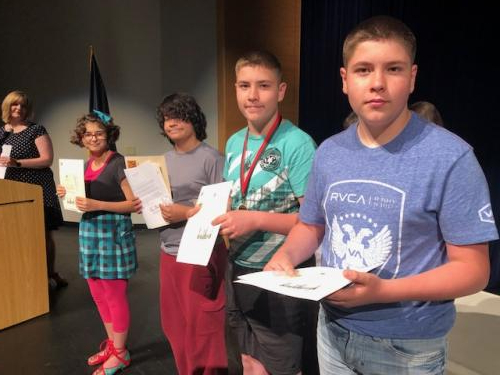 Four RMS students receive presidential awards