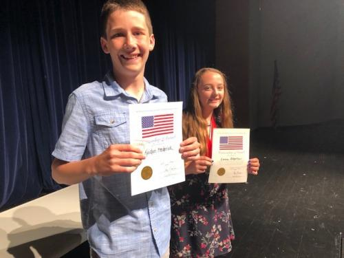 Two RMS students receive citizenship awards