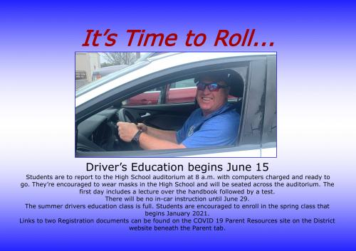 driver's ed class begins