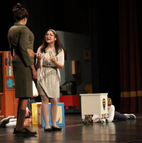 librarian argues with principal in matilda musical