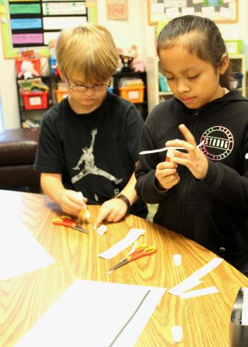 Third grade class learns more than research about tornadoes