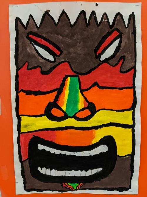 tiki mask by fifth grader miley hock