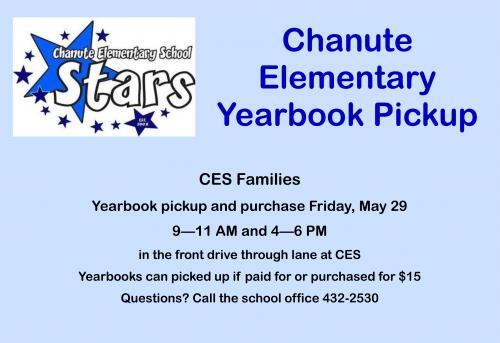 yearbook pickup flyer