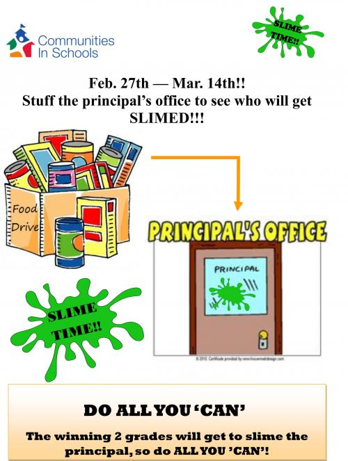 annual food drive flyer
