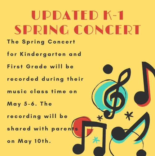 k-1 concert to be recorded flyer