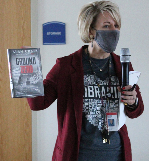librarian shares author's new book at ces