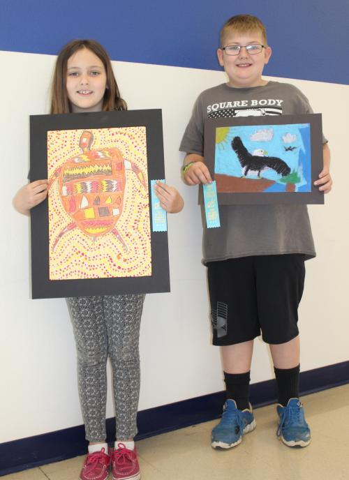 third graders artwork