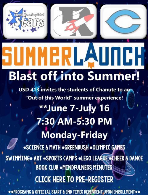 summer launch flyer