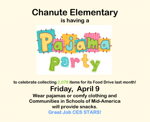 CIS food drive pajama party