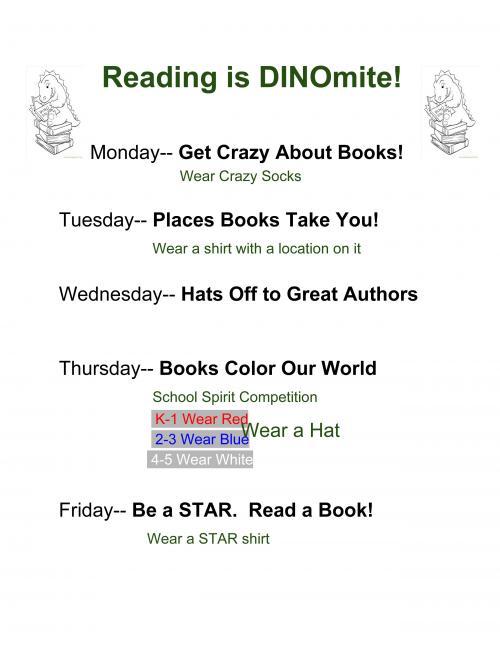 Reading is DINOmite flyer