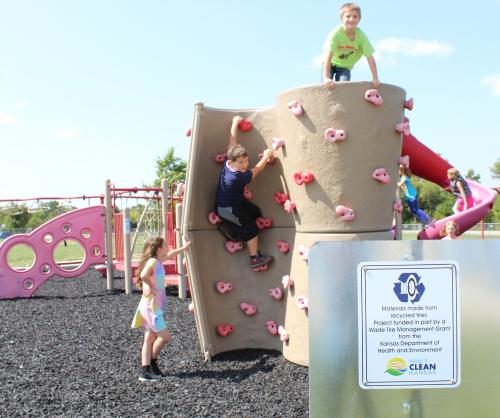 children on ces playground