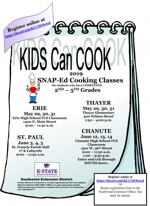 kids can cook flyer