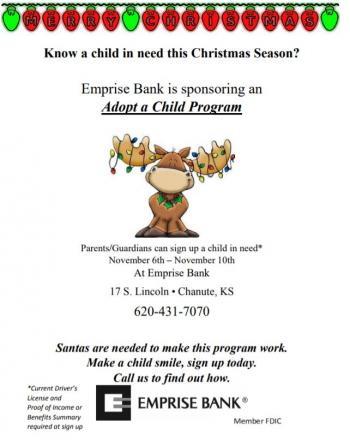 Adopt a Child Flyer information