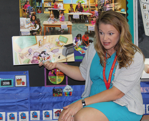 New preschool teacher reads about safety to her students