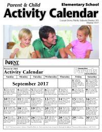 parent calendar