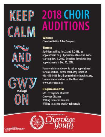 Cherokee nation choir tryout fyler