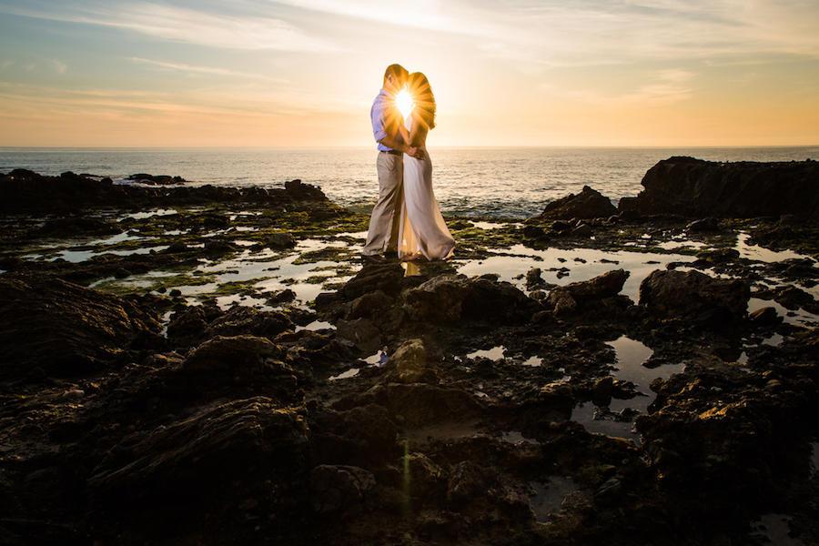 sunset engagement image