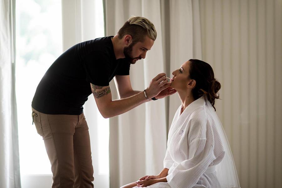 bridal prep makeup shots