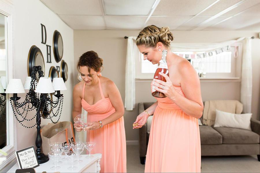 bridesmaids wedding photo