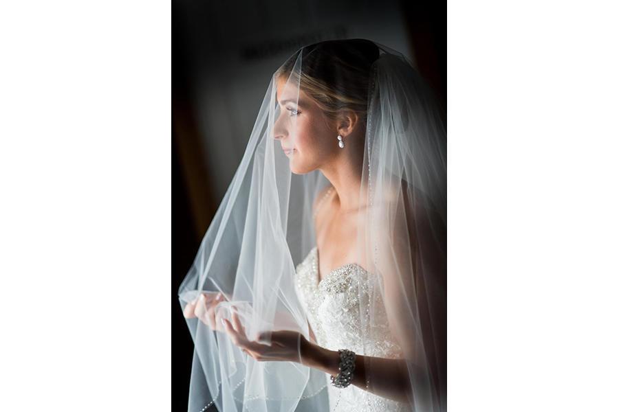 bridal portraits with veil