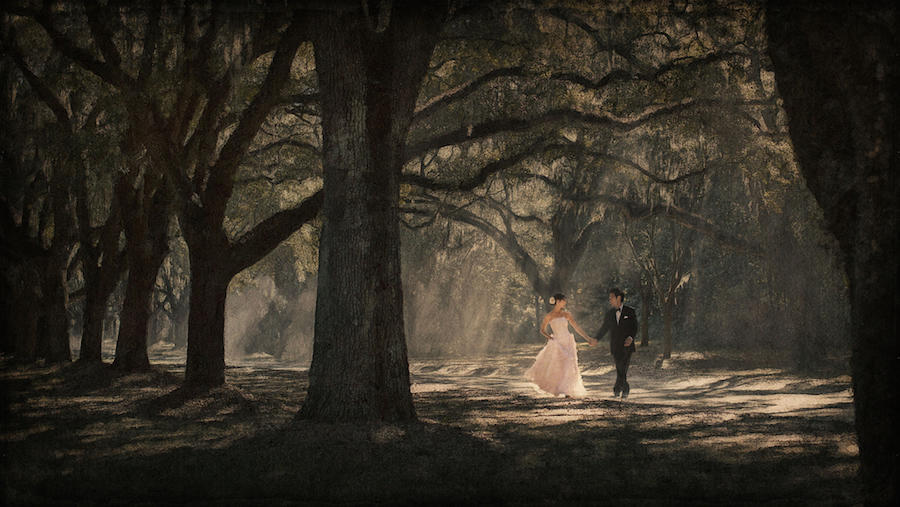 couple portraits outdoor wedding photo