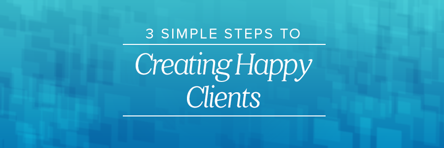 3 simple steps to creating happy wedding clients