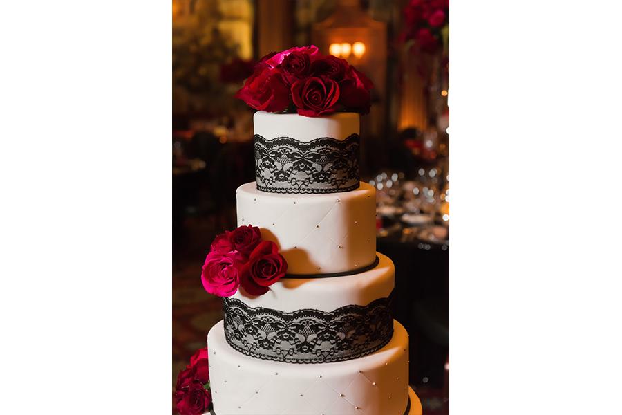 wedding cake detail shot