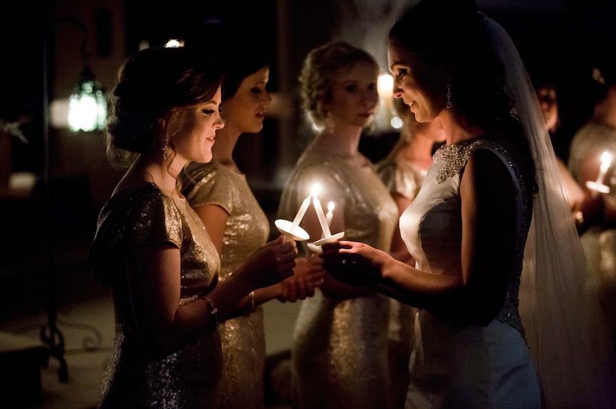 wedding photography candles
