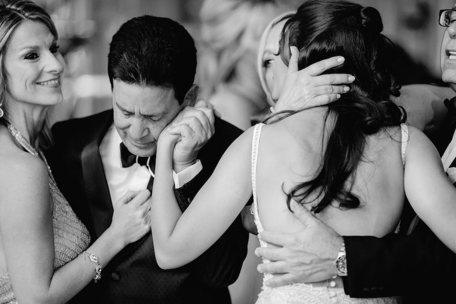 black and white family wedding photos