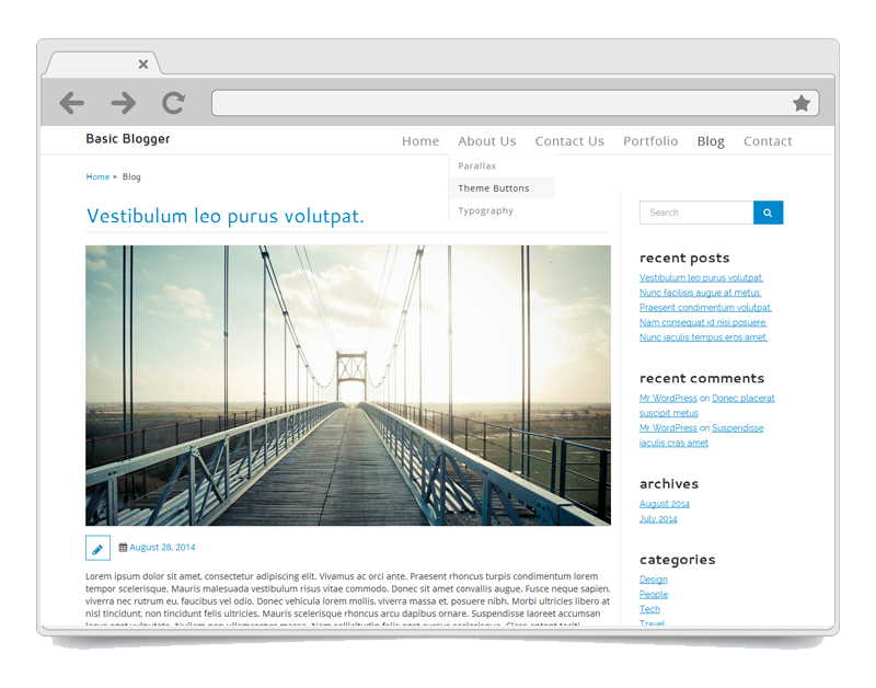 Basic Blogger WordPress Theme