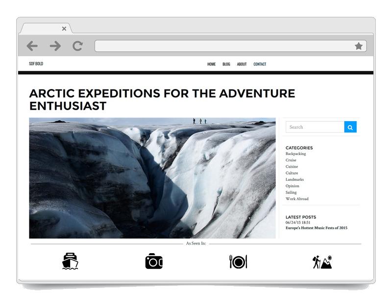 SDF Bold WordPress Theme