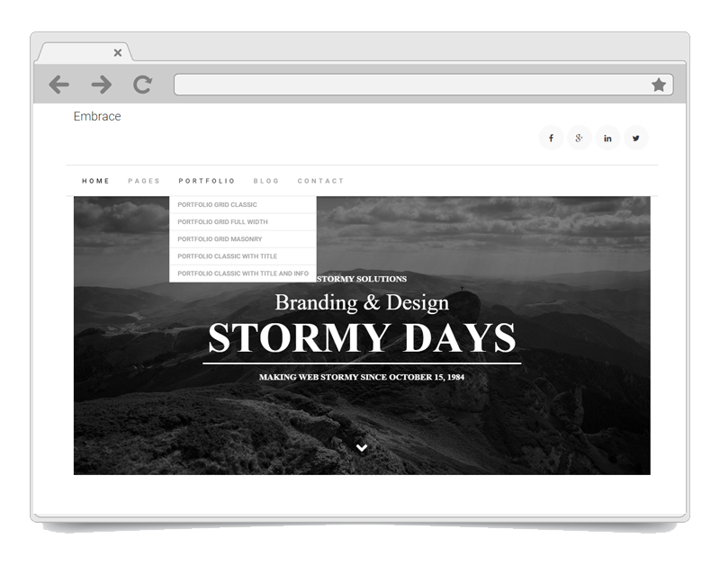 Embrace WordPress Theme