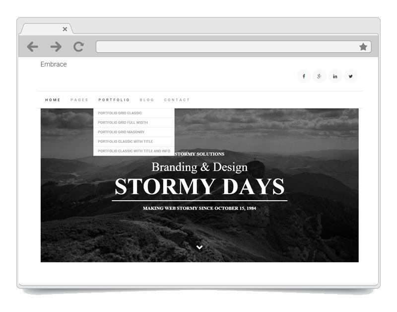 Embrace WordPress Theme