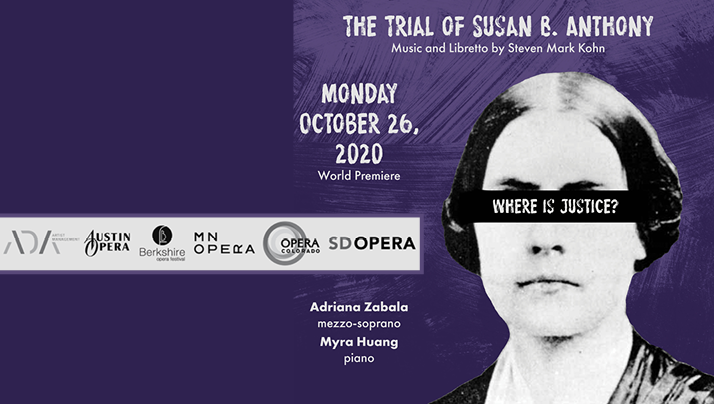 THE TRIAL OF SUSAN B. ANTHONY - World Premiere October 26