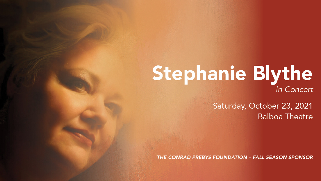 Stephanie Blythe In Concert, Saturday, October 23 at 7:30pm