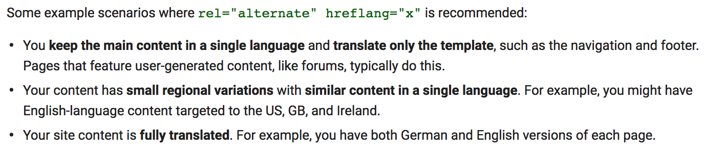 Google Hreflang Instructions