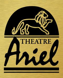 Theatre arial logo vector reversegoldonblak