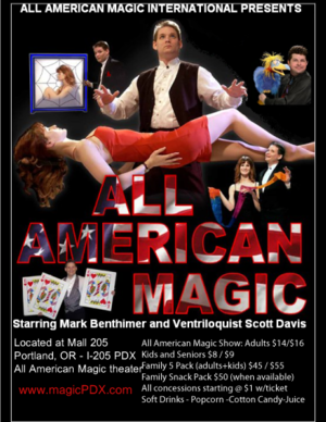 All american magic   show poster