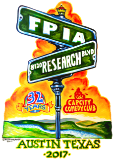 Poster art showing the intersection of Cap City's address and FPIA road.