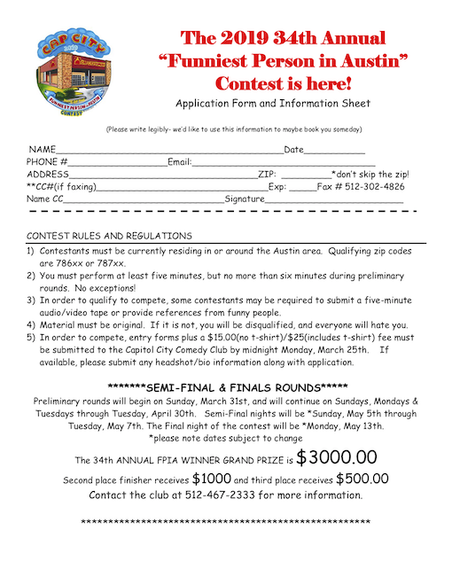 Example sign-up form for FPIA competition.