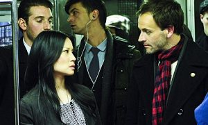 Jonny Lee Miller as detective Sherlock Holmes and Lucy Liu