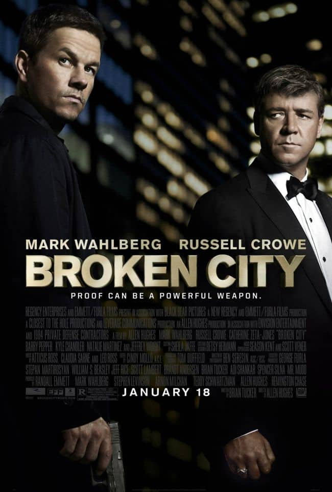 Broken City Movie Poster Mark Wahlberg Russell Crowe