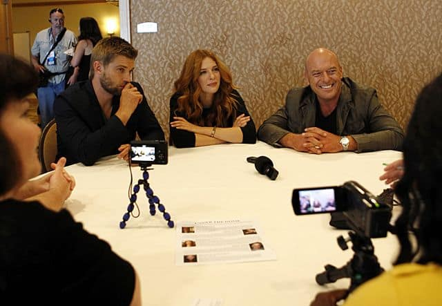UNDER THE DOME Comic Con Mike Vogel, Rachelle Lefevre, and Dean Norris of UNDER THE DOME