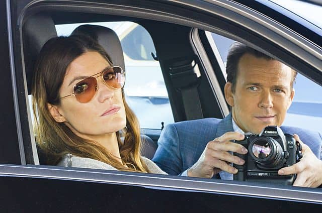 Jennifer Carpenter as Debra Morgan and Sean Patrick Flanery as Jacob Elroy in Dexter