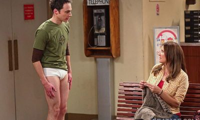 Sheldon (Jim Parson, left), on THE BIG BANG THEORY