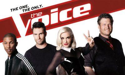 The Voice Season 7 Poster Blake Shelton, Adam Levine, Gwen Stefani, Pharrell Williams