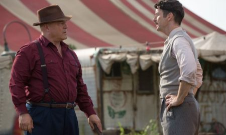 Michael Chiklis as Dell Toledo, Denis O'Hare as Stanley American Horror Story Freak Show