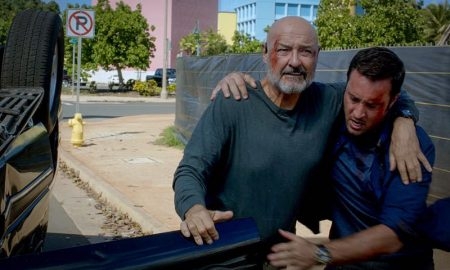 Terry O'Quinn as Joe White and Alex O'Loughlin as Steve McGarrett Hawaii Five-0