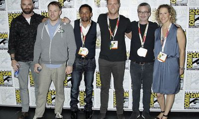 Executive Producer, Craig Sweeny, Director, Marc Webb, Hill Harper, Jake McDorman, & Executive Producers Alex Kurtzman & Heather Kadin of the new CBS Series Limitless at COMIC CON 2015, held in San Diego, CA Photo: Francis Specker/CBS ©2015 CBS Broadcasting Inc. All Rights Reserved