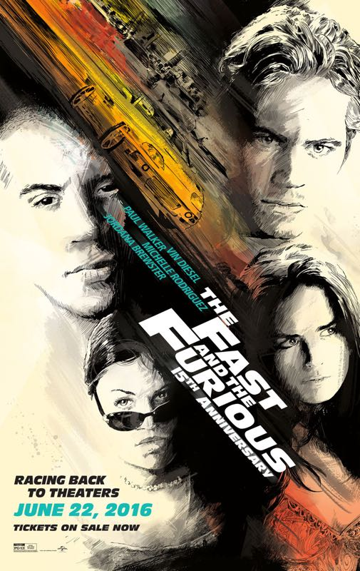The Fast And The Furious Re Release Poster